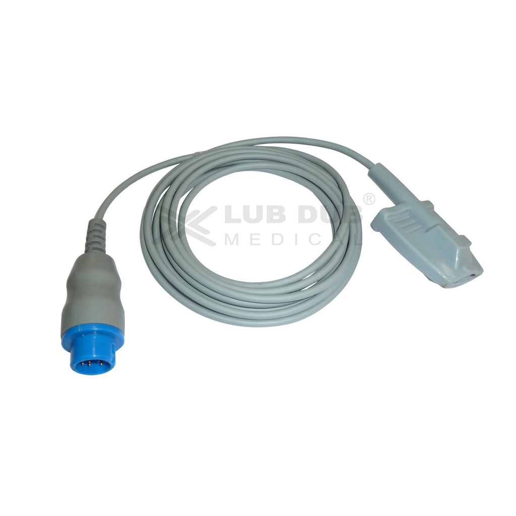 Spo2 Adult  3 Mtr Probe Compatible with Browndove 12 Pin Rubber type
