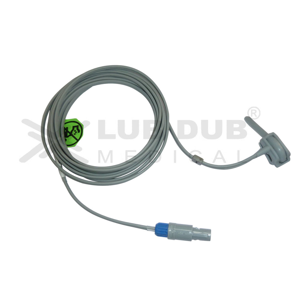 Spo2 Neonatal 3 Mtr Probe Compatible with Mediaid II 6 Pin Rubber type