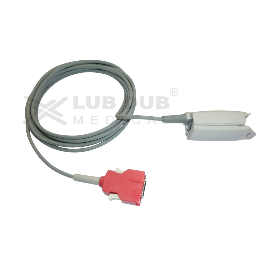 Spo2 Adult 3 Mtr Probe Compatible with Masimo Rainbow 20 Pin Version 7 clip type