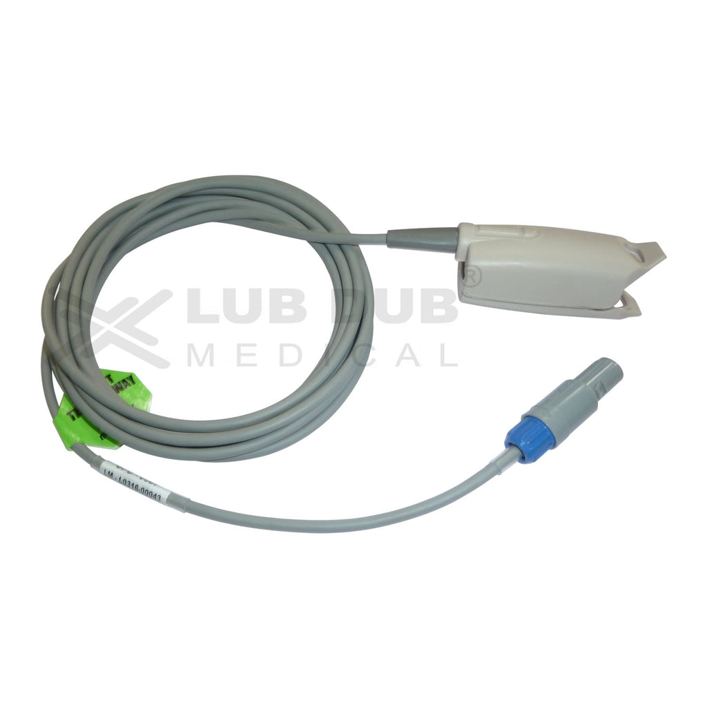 Spo2 Adult 3 Mtr Probe Compatible with Kopran 6 Pin S/n clip type