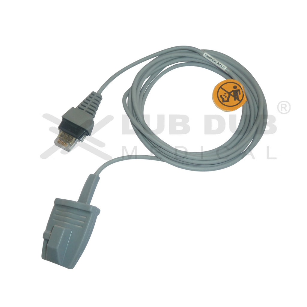Spo2 Adult  3 Mtr Probe Compatible with Mediaid Composit Jack Rubber type