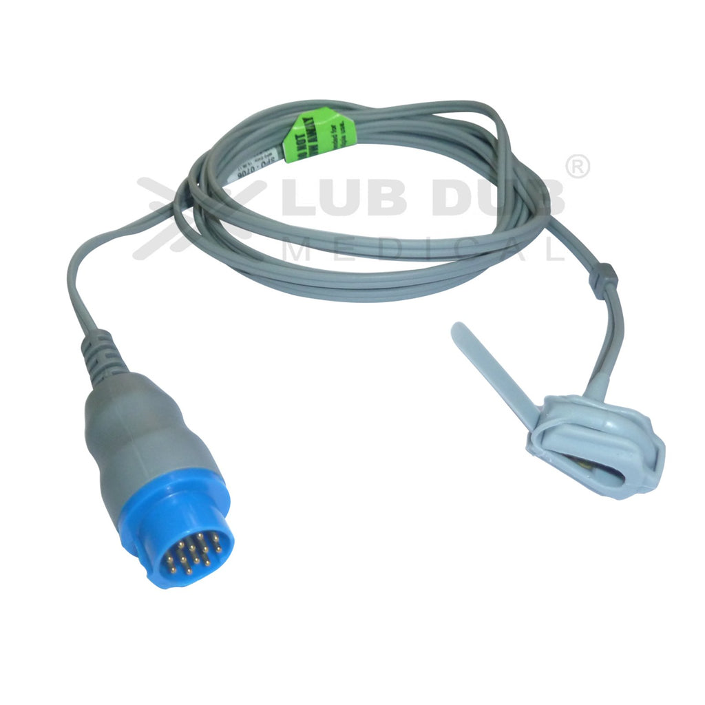 Spo2 Neonatal 3 Mtr Probe Compatible with Schiller Truscope Mini 12 Pin Digital Rubber type