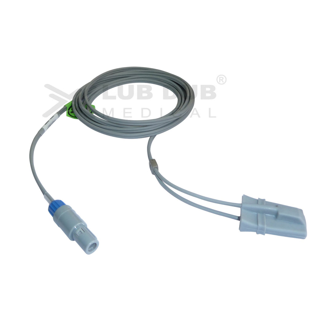 Spo2 Pediatric  3 Mtr Probe Compatible with Uniem/Welcare 6 Pin S/n Digital Rubber type
