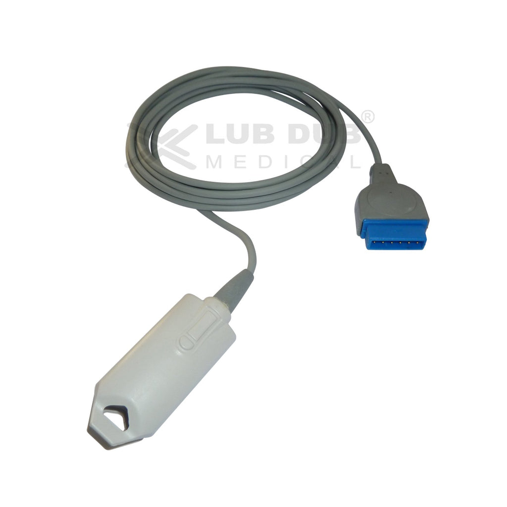 Spo2 Adult 3 Mtr Probe Compatible with GE Datex Ohemada Aspire 7900 11 Pin clip type