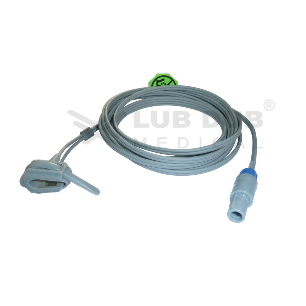 Spo2 Neonatal  3 Mtr Probe Compatible with BCI / Nasan / Concept / Bluestar / 6 Pin Rubber type
