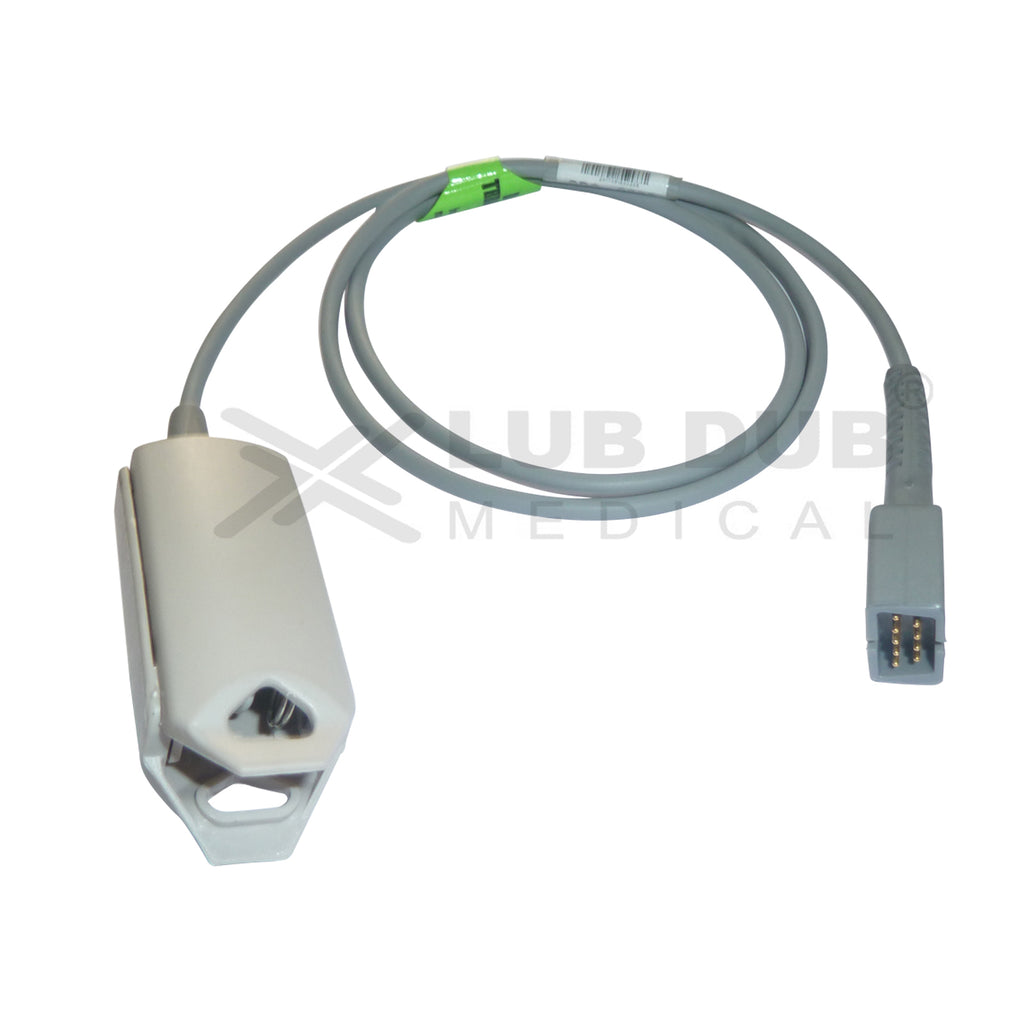 Spo2 Adult 0.9 Mtr Probe Compatible with Nellcor /HP/Mediaid/Emco/Allengers/Mindray/Nasan/Solaris/Siliconlabs/L&T/Edan Clip type