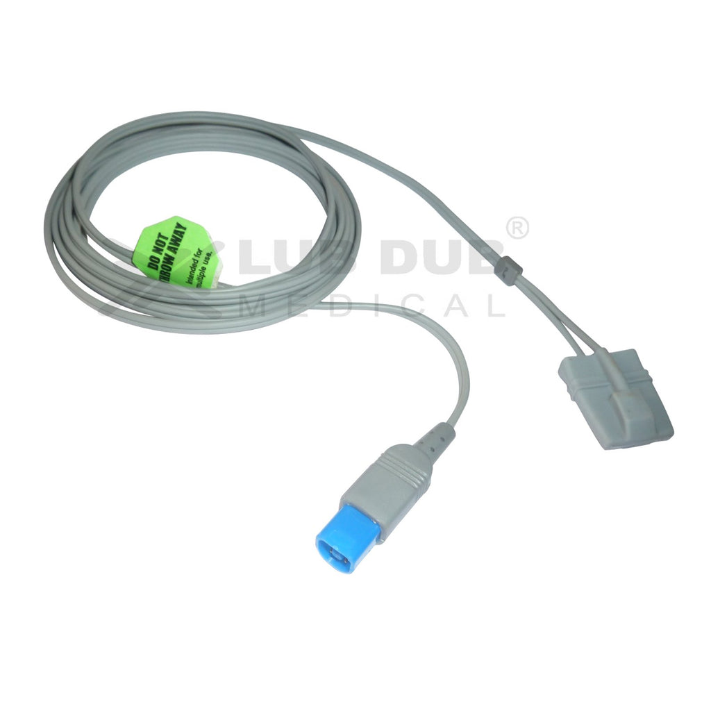 Spo2 Pediatric  3 Mtr Probe Compatible with HP MP20/30 Halfmoon/8pin Rubber type
