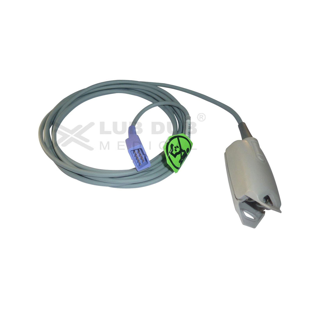 Spo2 Adult 3 Mtr Probe Compatible with Nellcor Oom DB9 clip type