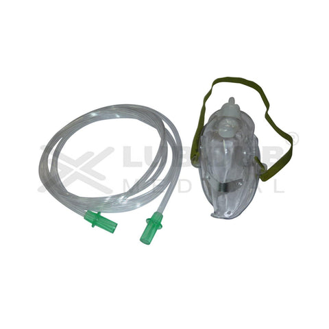 Disposable Oxygen Mask with Tube Adult (Pack of 10)