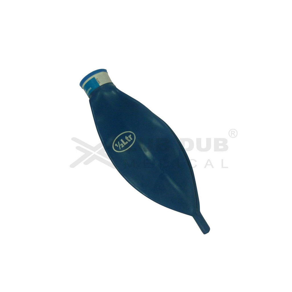Disposable Rebreathing bag Blue 0.5 Ltr Assembly With out Oxiboy Logo
