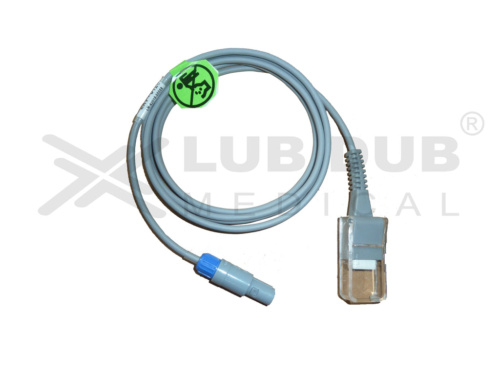 Spo2 Extension Cable Compatible with BPL Ultima Prime Nellcor 7 Pin Redal Male Connector Single Notch