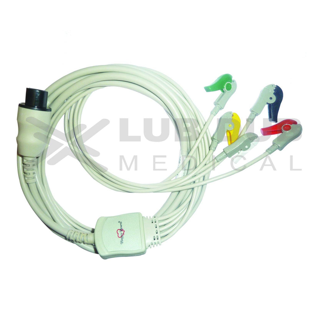 5 Lead ECG Cable Compatible with Mindray  6 Pin Clip type