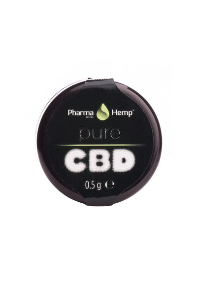 half gram container of Pure CBD by PharmaHemp