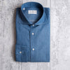denim shirt made in italy