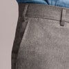 light grey flannel trousers made in italy side pocket with AMF stitching ans small change pocket