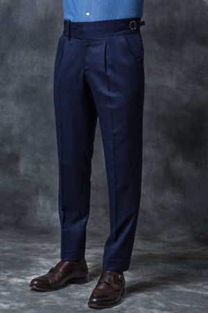 Blue Flannel Trousers Limited Edition – Made in Italy