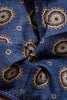 Blue and beige fancy pocket square - Made in Italy