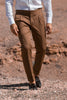 sartorial trousers, gurkha trousers, cotton gurkha, bespoke cotton trousers, brown cotton trousers