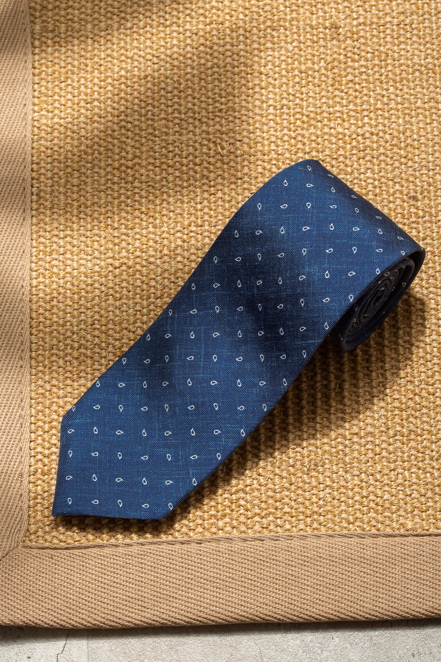 Avio micropaisley tie - Made in Italy