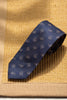 Blue tie with taupe paisley - Made in Italy