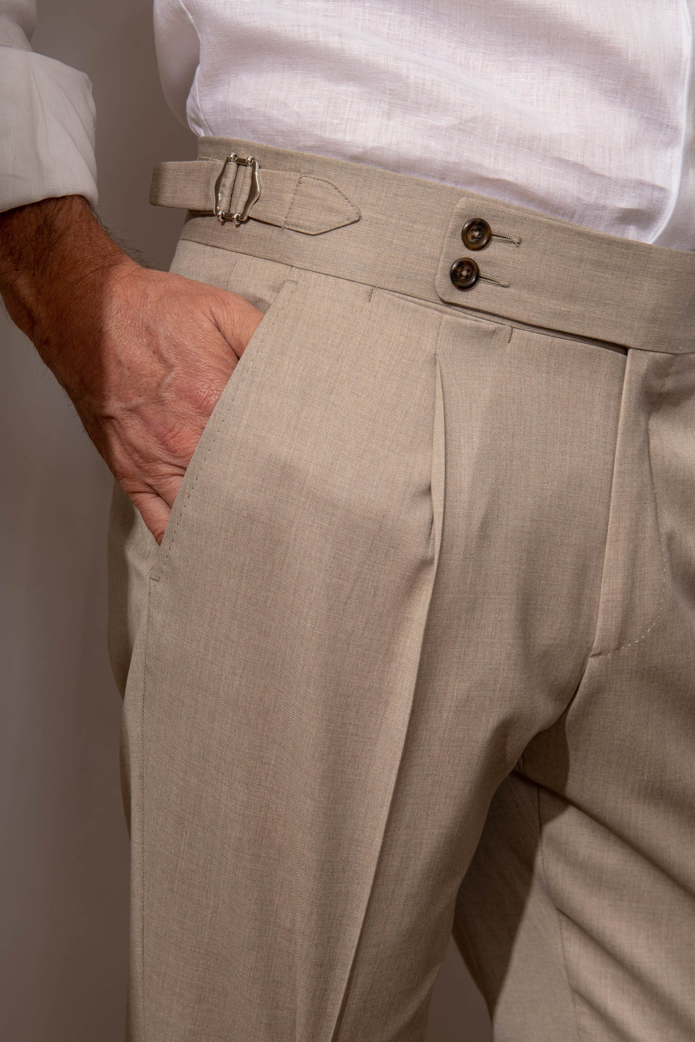 "Beige trousers ""Soragna Capsule Collection"" - Made in Italy"