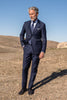 "Blue striped suit in Loro Piana wool ""Soragna Capsule Collection"" - Made in Italy"