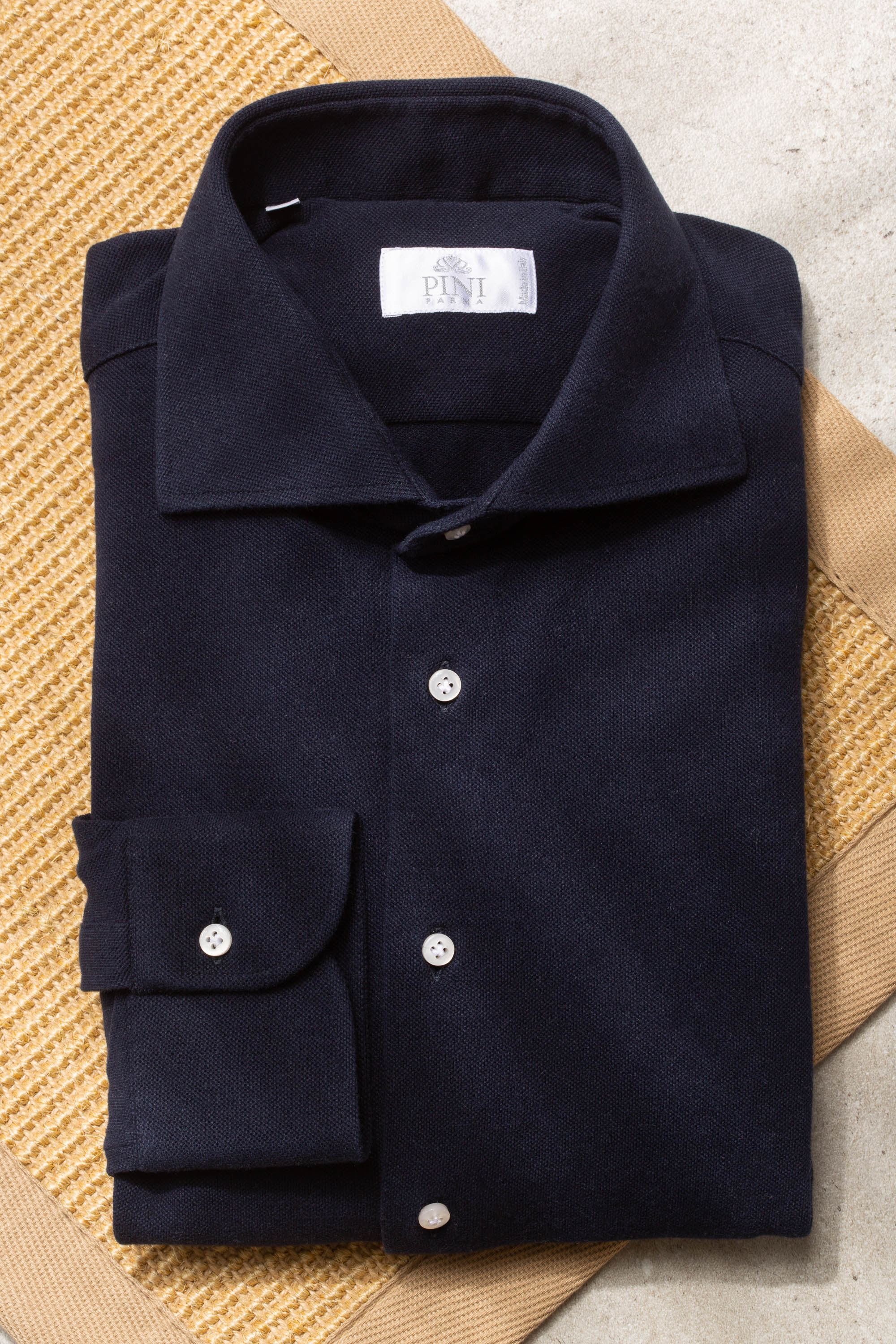 Navy polo shirt - Made in Italy