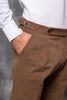 Brown Cotton Biella Trousers  - Made in Italy PREORDER/EXPECTED SHIPPING 5 OCTOBER