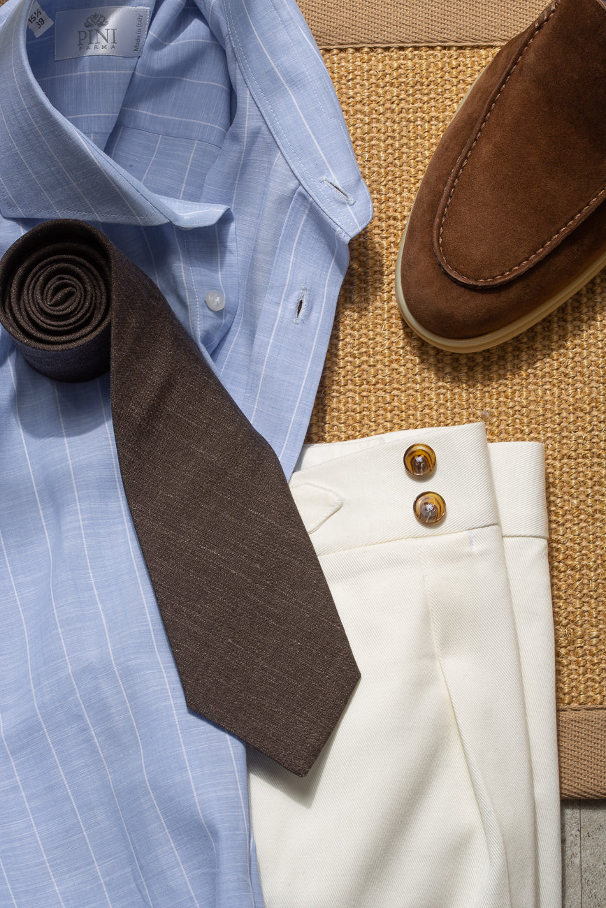 Brown tie - Hand Made In Italy