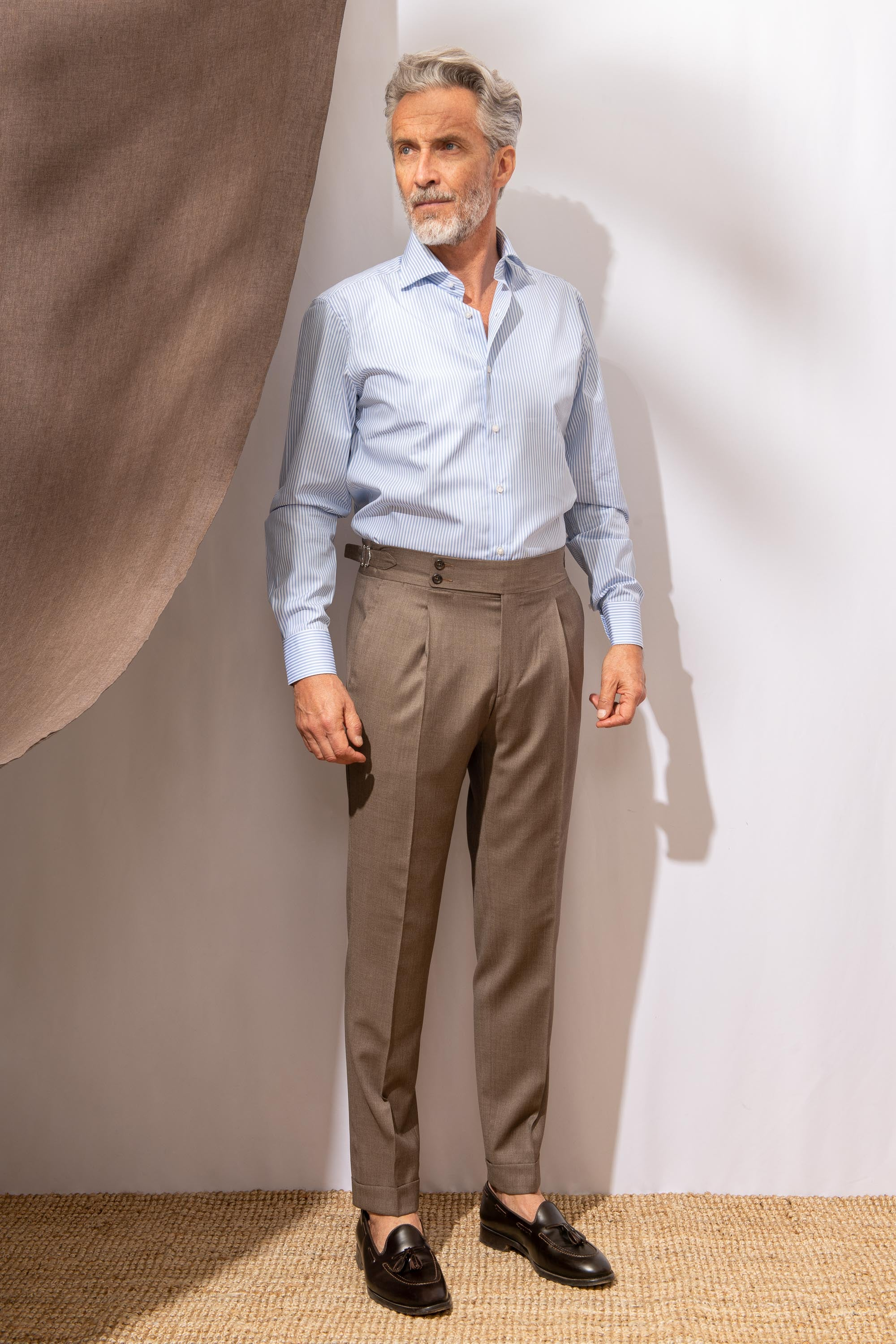 "Brown trousers  ""Soragna Capsule Collection"" - Made in Italy"