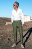 "Green linen trousers ""Soragna Capsule Collection"" - Made in Italy"