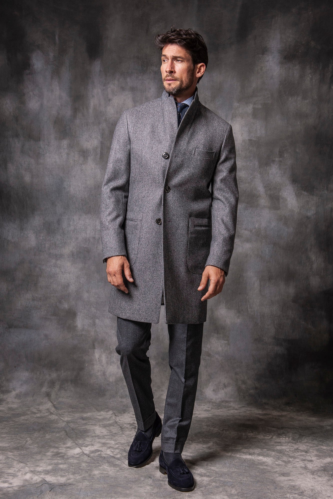 grey coat, woolen coat, men grey coat, manteau laine homme, manteau gris homme, cappotto grigio uomo