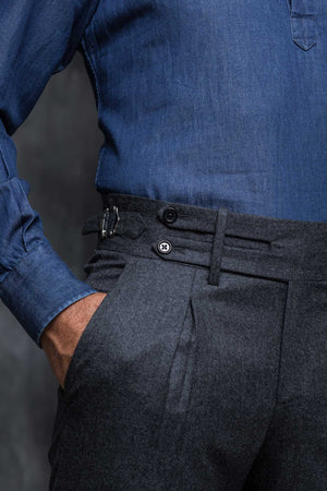 Grey Flannel Trousers gurkha pants gurkha trousers, bespoke trouser