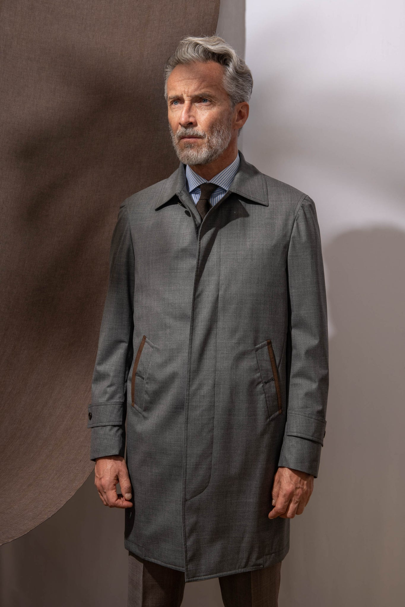 Grey raincoat - Made in Italy