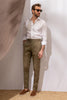 "Kaki cotton trousers  ""Soragna Capsule Collection"" - Made in Italy"