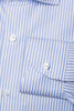 Light Blue Striped Shirt - Made in Italy