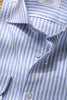 "Light blue striped shirt ""Riviera collection""- Made in Italy"