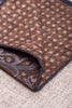 Grey and brown fancy pocket square - Hand Made in Italy