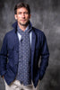 Blue Safari Jacket flannel Super 180'S – Made in Italy