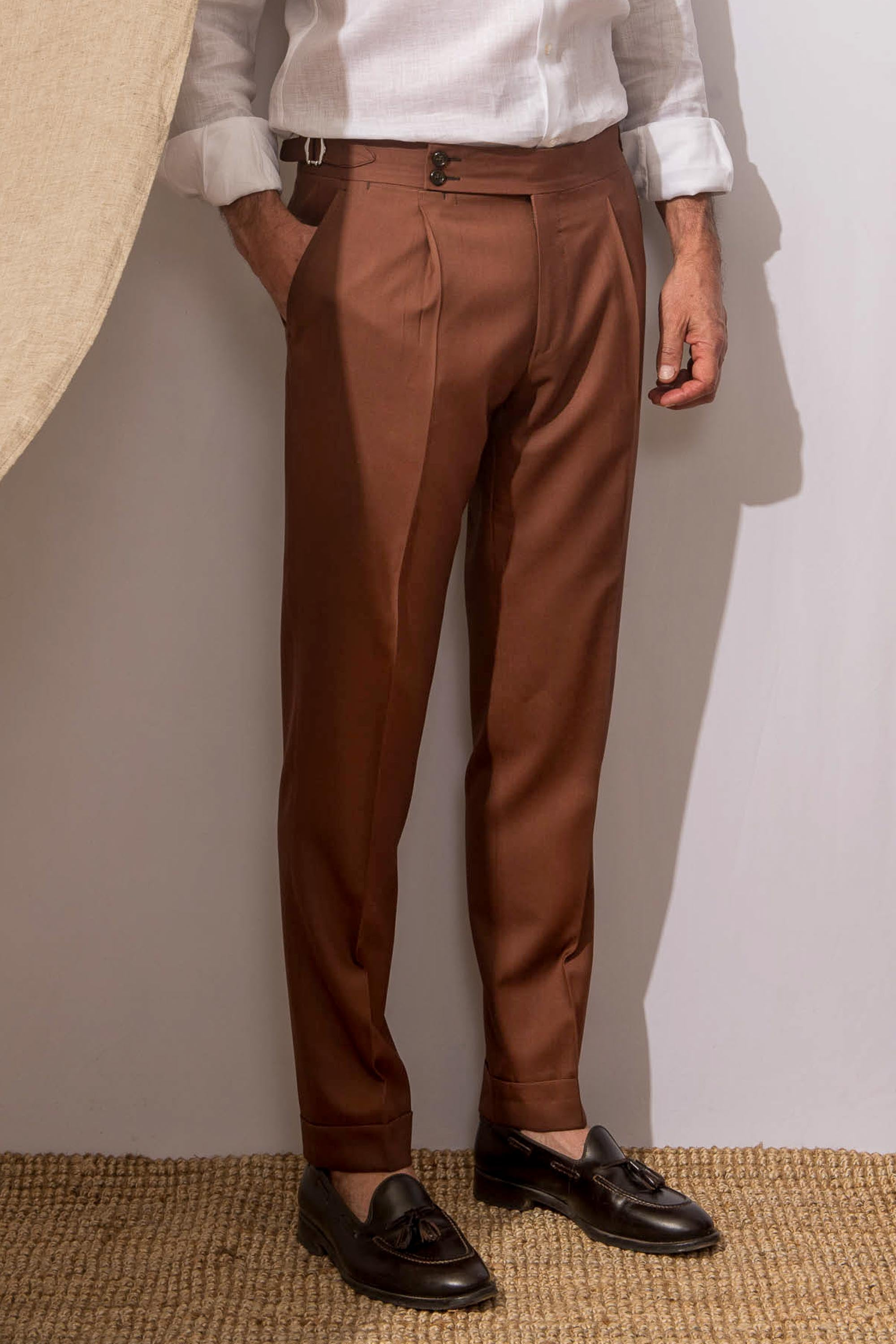 "Terracotta trousers ""Soragna Capsule Collection"" - Made in Italy"
