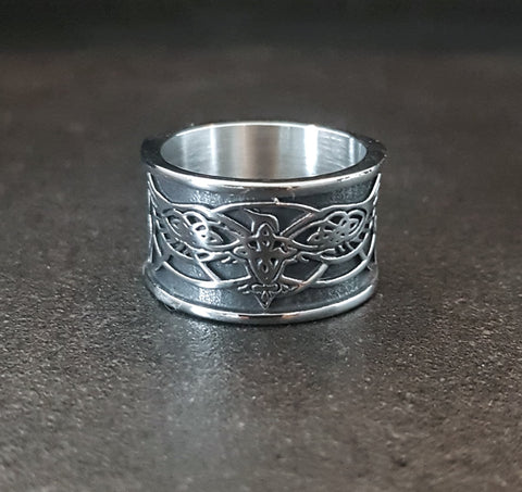 Stainless Steel Odins Ravens Ring
