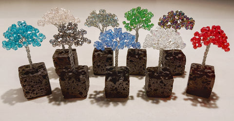 Miniature Lava Tree With Crystals - AVAILABLE COLOURS