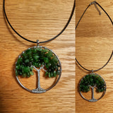 Natural Mineral / Crystal Tree of Life Pendant