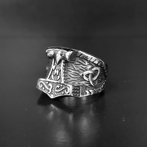 Stainless Steel Thors Hammer Ring
