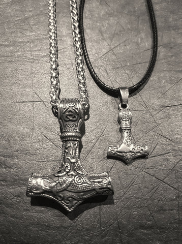 Stainless Steel Thors Hammer Necklace
