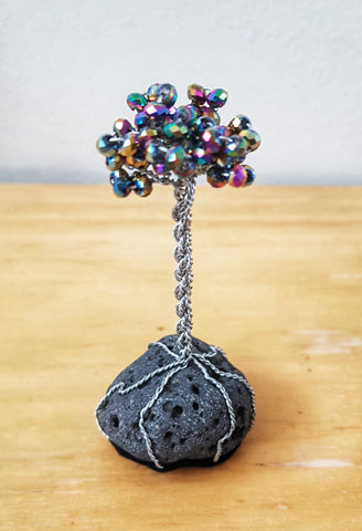 Miniature Lava Tree - Multi-color Crystals