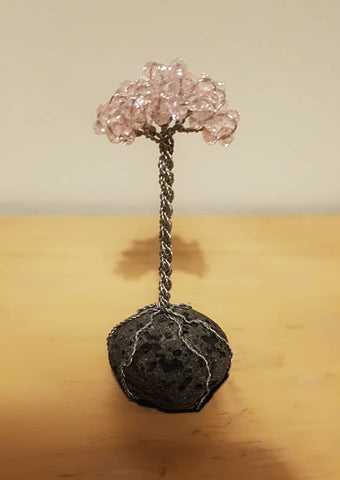 Miniature Lava Tree - Pink Crystals