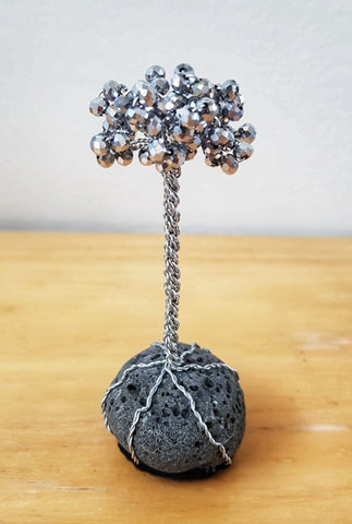 Miniature Lava Tree - Silver Crystals