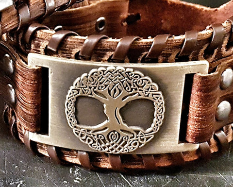 Leather Viking Bracelet for Him - Viking Collection