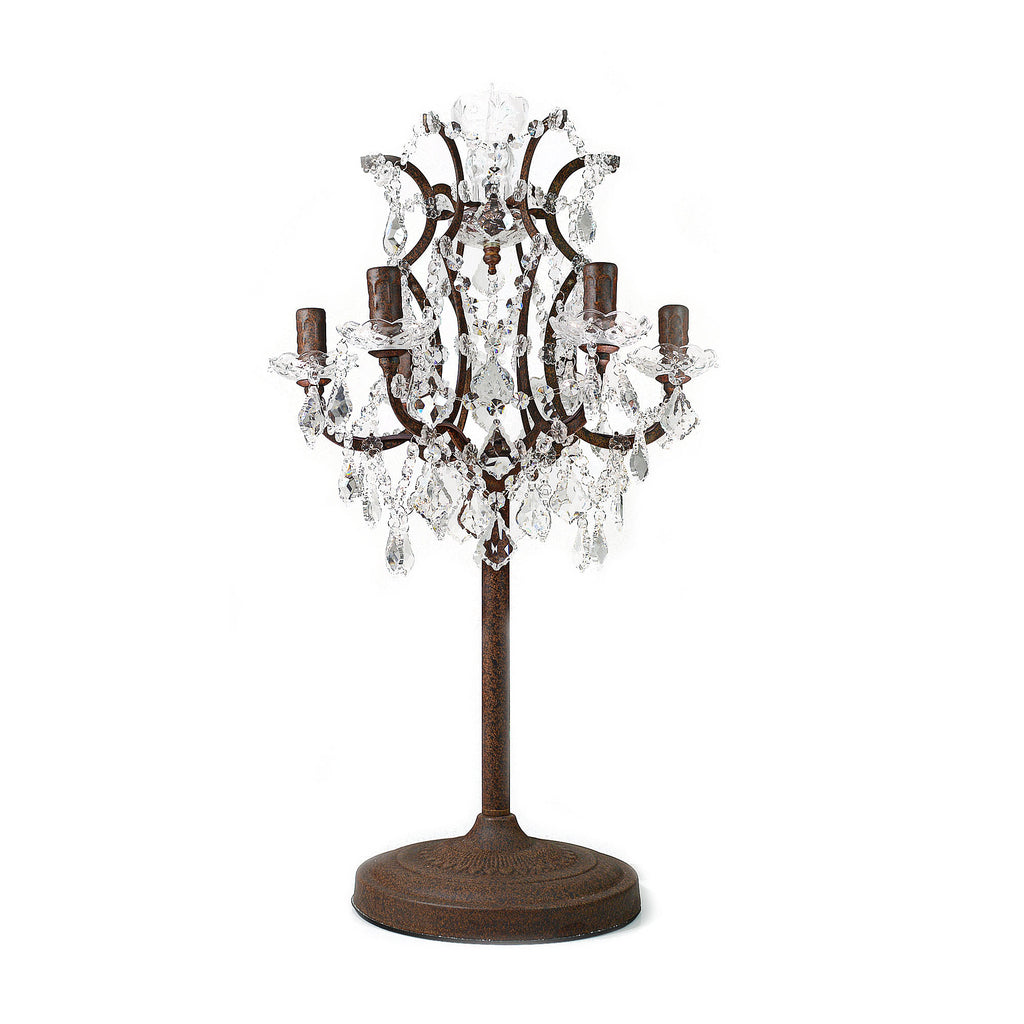 ... Retro Industrial Rusted Iron Crystal Table Lamp ...